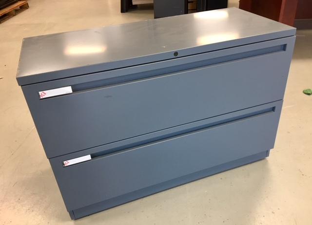 ki two drawer steel lateral file cabinet medium grey