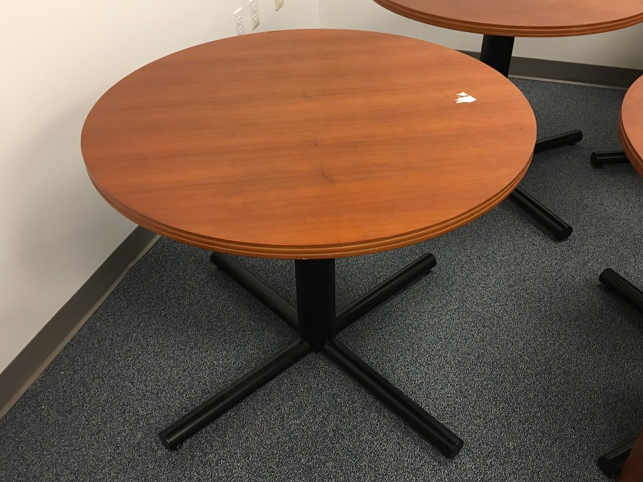 Paoli Round Table Cherry Surplus Office Equipment - 36 round conference table