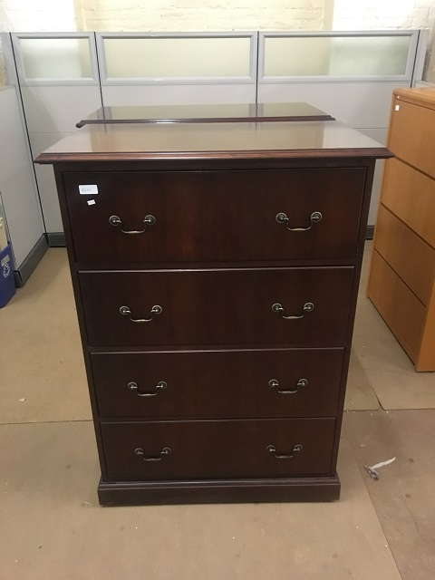 Jofco Traditional Style 4 Drawer Lateral File Cabinet Cherry