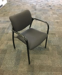 Used stackable chairs Function Hall Home Used Office Chairs Used Guest And Stackable Chairs Surplus Office Equipment Haworth Improv Stackable Guest Chair Charcoal Surplus Office Equipment