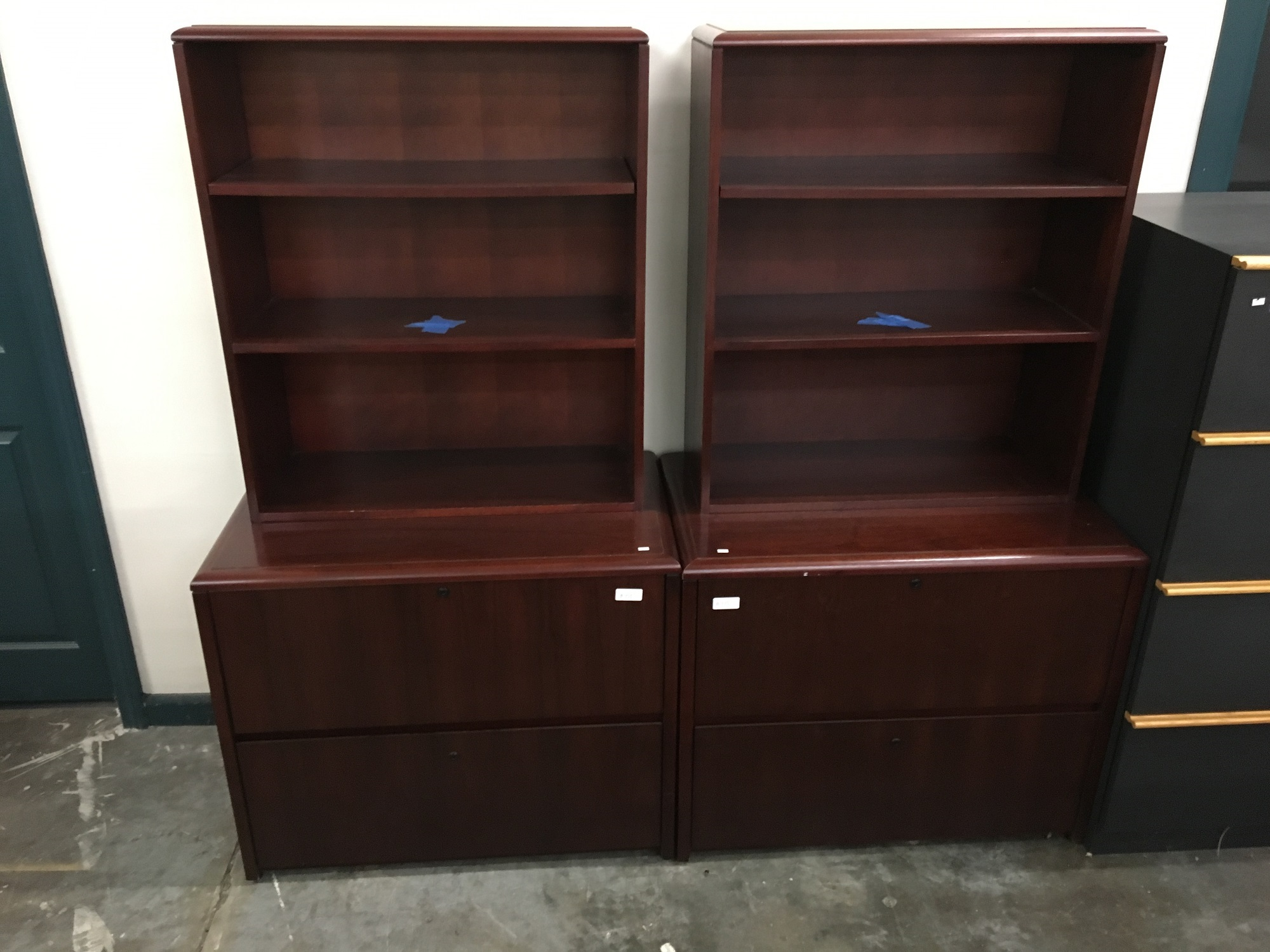 National 3100 Series 2 Drawer Lateral File With Bookcase