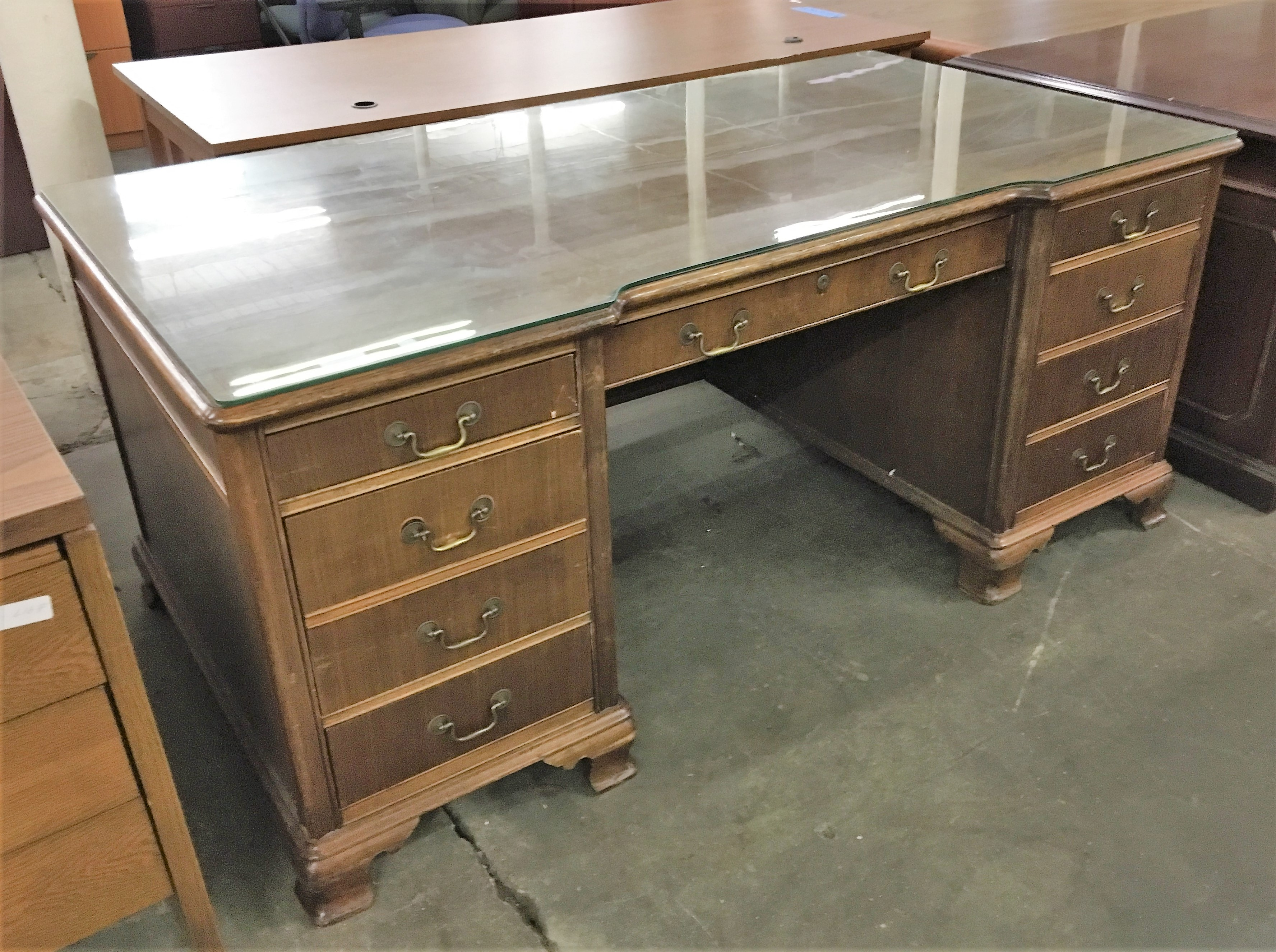 Double Pedestal Desks Home Design Ideas